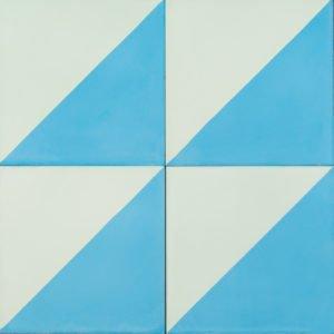 Aqua and mint coloured tile