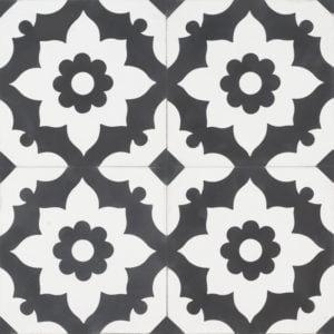 black and white decorative tile