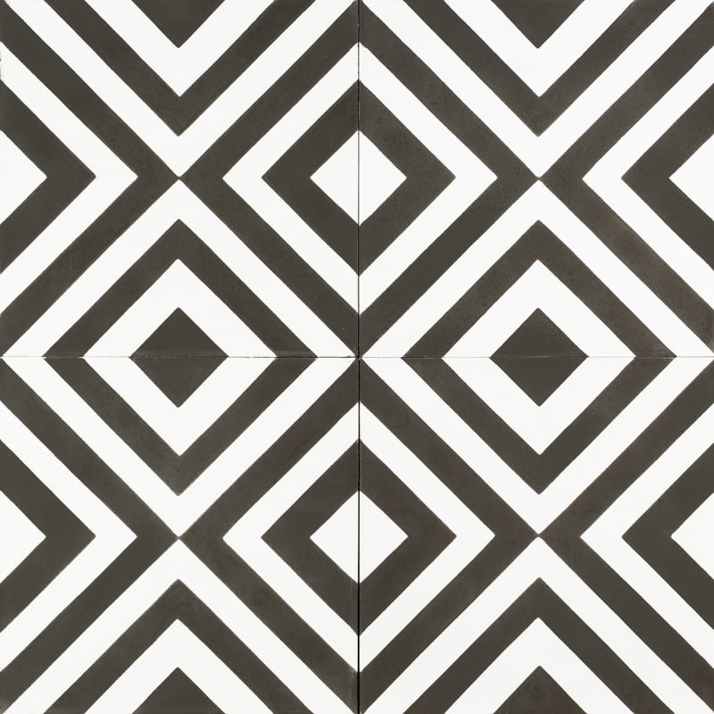 black and white checkered tile