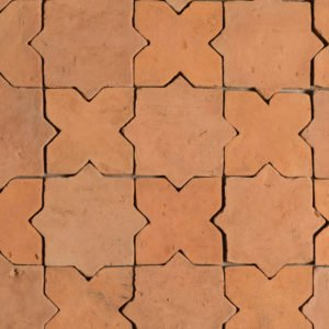 estrella terracotta tile. star and cross come together to form this timeless, classic pattern
