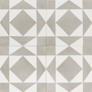 Grey and white patterned tile