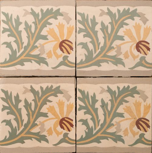 floral patterned tile
