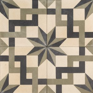 An old effect tile reflecting the floors used in funky bars and restaurants of Berlin. Aged and full of charm and character oozing with European vibe.