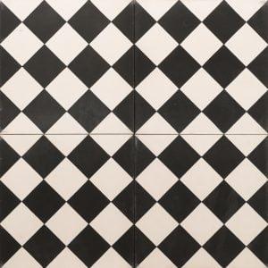black and white checkered tile