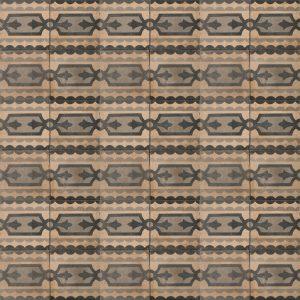 Brown and black patterned tile