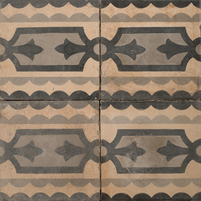 Brown and black patterned tile