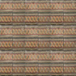 earthy toned chain pattern tile