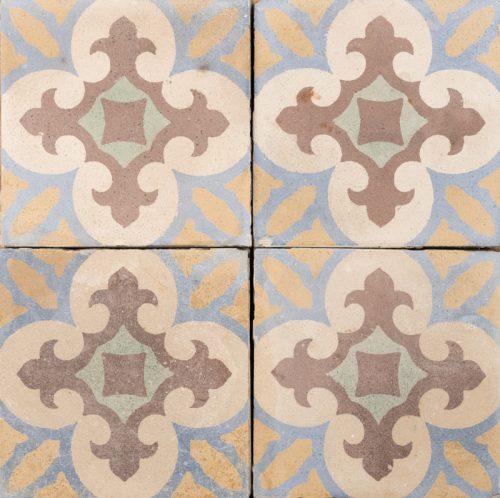 fleur de lis antique tile