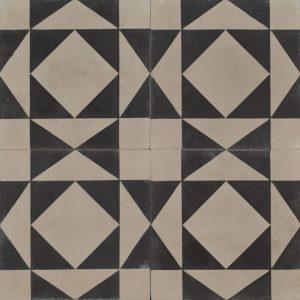 Grey and black patterned tile
