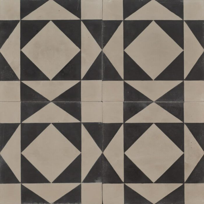 Grey and black patterned tile