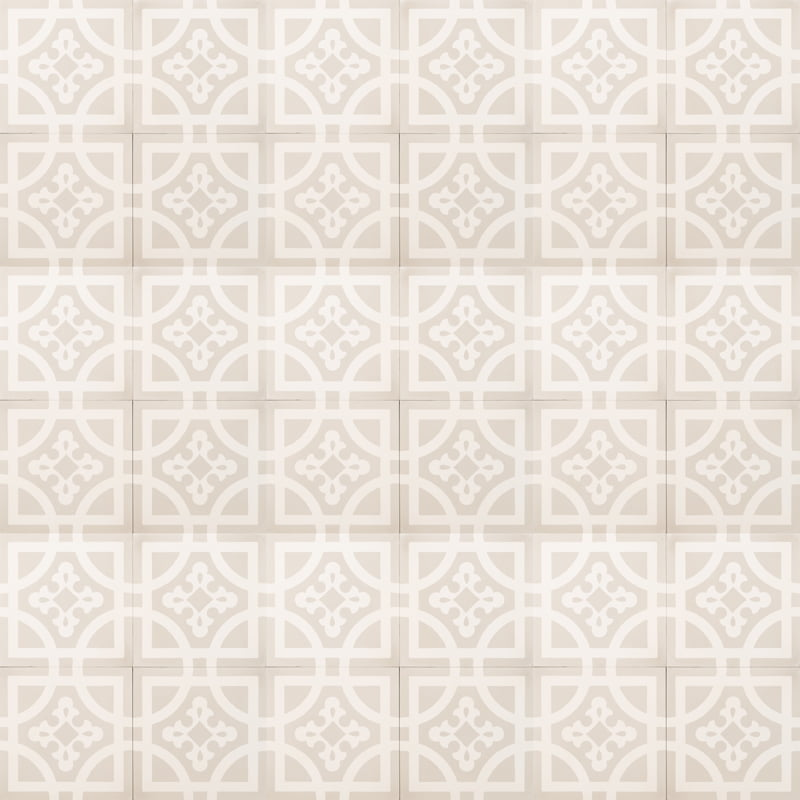 grey tile with white design