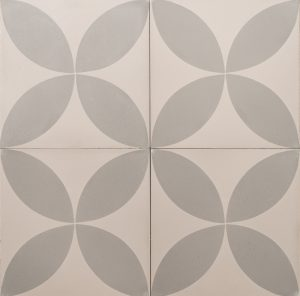 grey petals on a grey tile