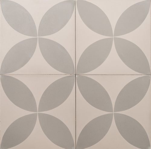 grey petals on a grey tile