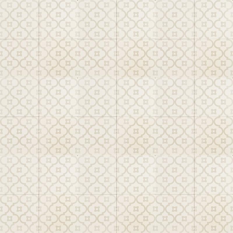 Light Grey On White Moorish Night Tile Jatana Interiors