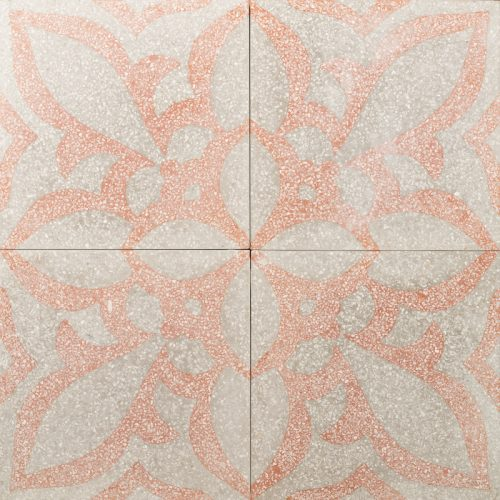 burnt orange and grey tile
