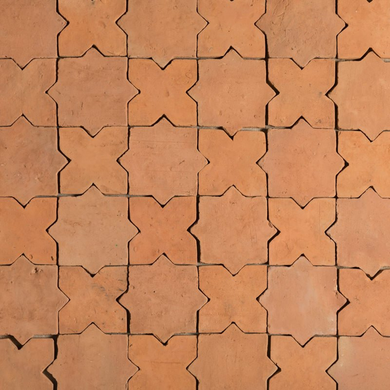 star and cross combined terracotta tiles