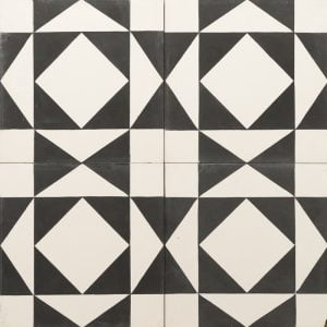 white and black graphic tile