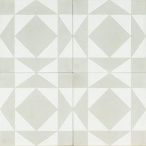 white tile with light grey design