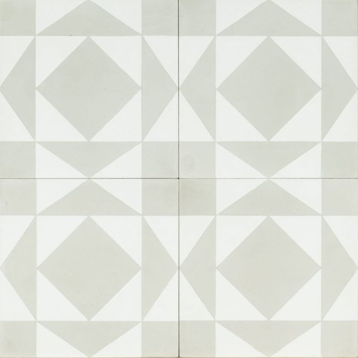 white tile with light grey design