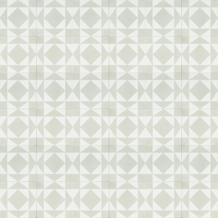 white tile with grey design