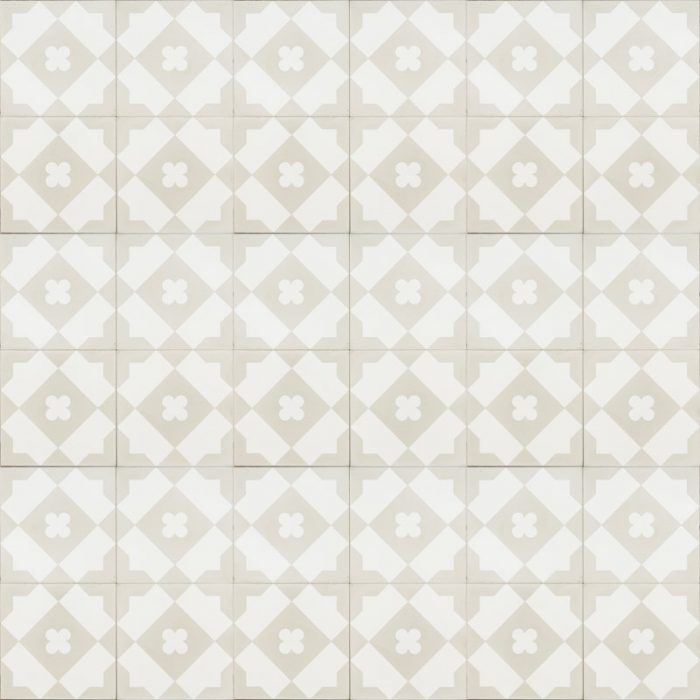 white tile with light grey pattern