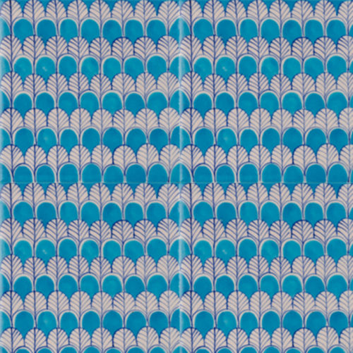 Glazed handpainted indian tiles