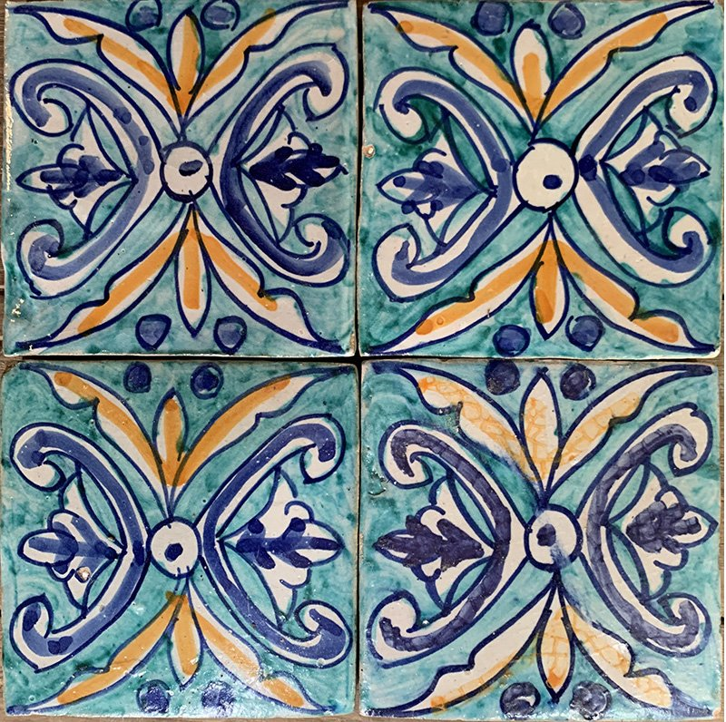 fez marketplace glazed 10x10 moroccan