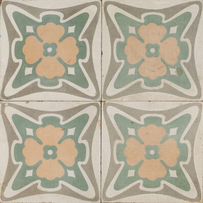 golden clover antique tile raw