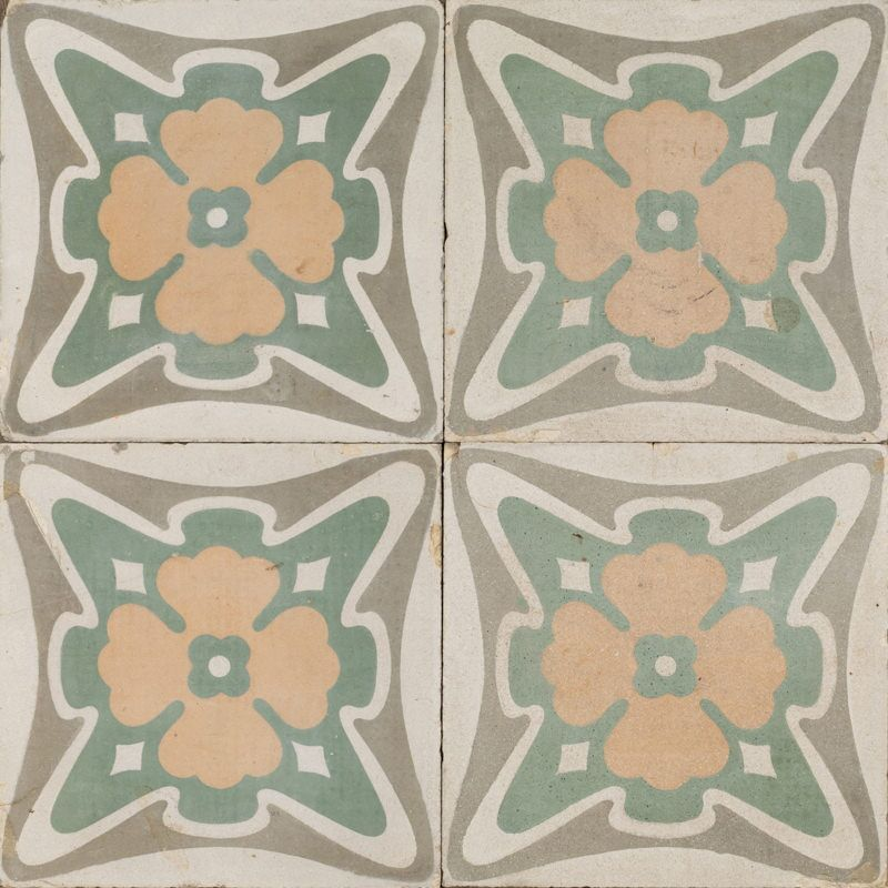 golden clover antique tile raw