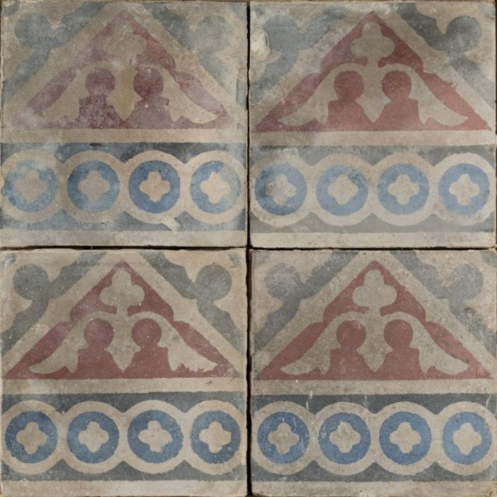 medieval castle antique tile raw
