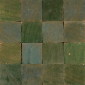 mediterranean green moroccan glazed 10x10
