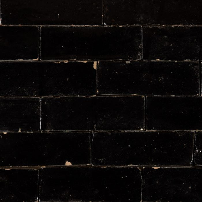 Black Glazed Brick Tile
