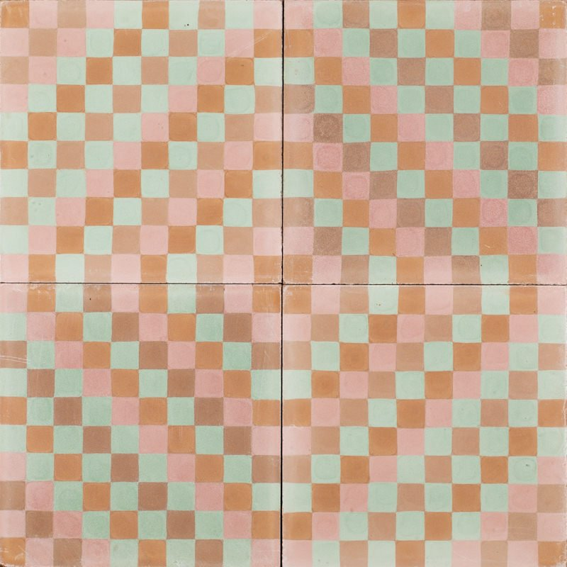 Mexican mosaic tile gives funky but warm vibe. Suitable for floors and walls.
