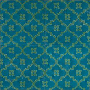 new blue moorish night tile