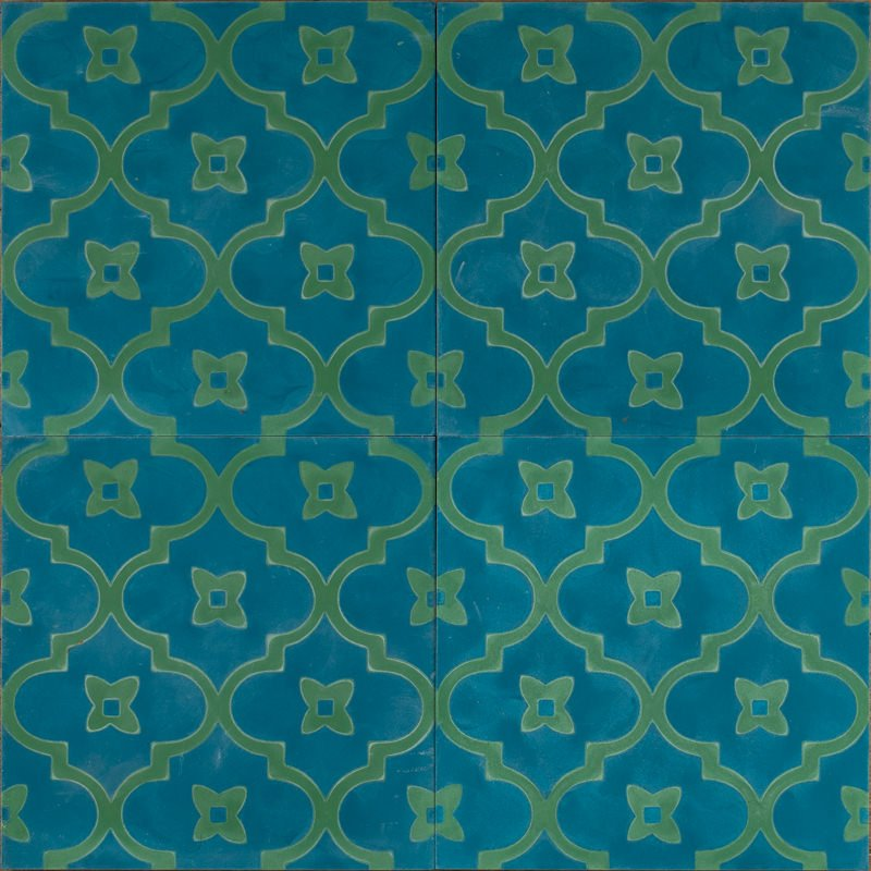 new blue moorish night tile