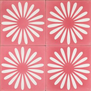 spicy pink flower tile