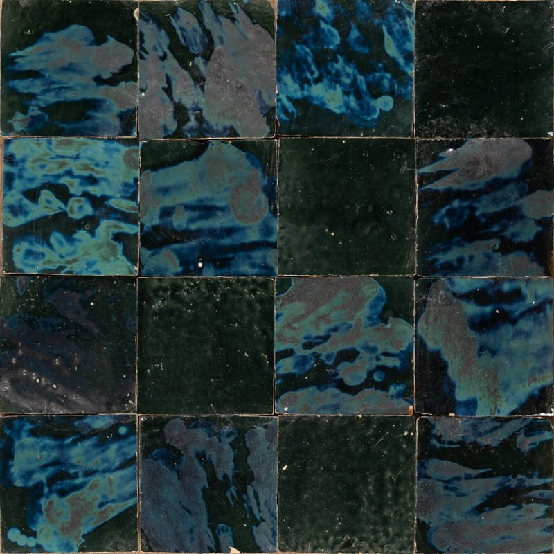 blue and green special effect tiles