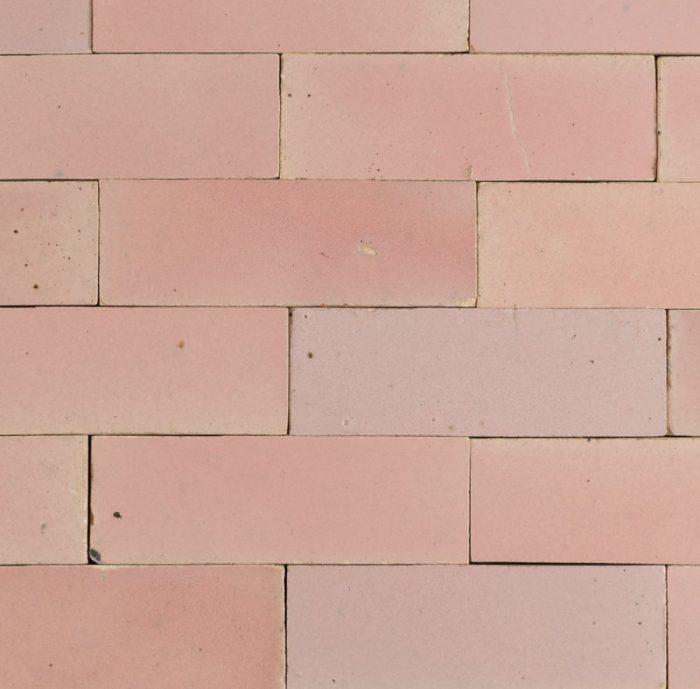 soft pink brick tiles
