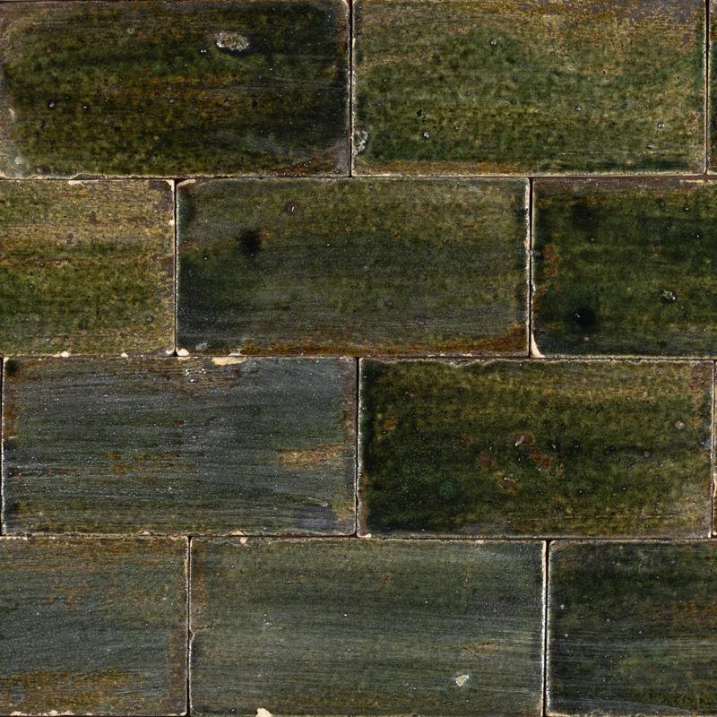 mix of green brick tiles