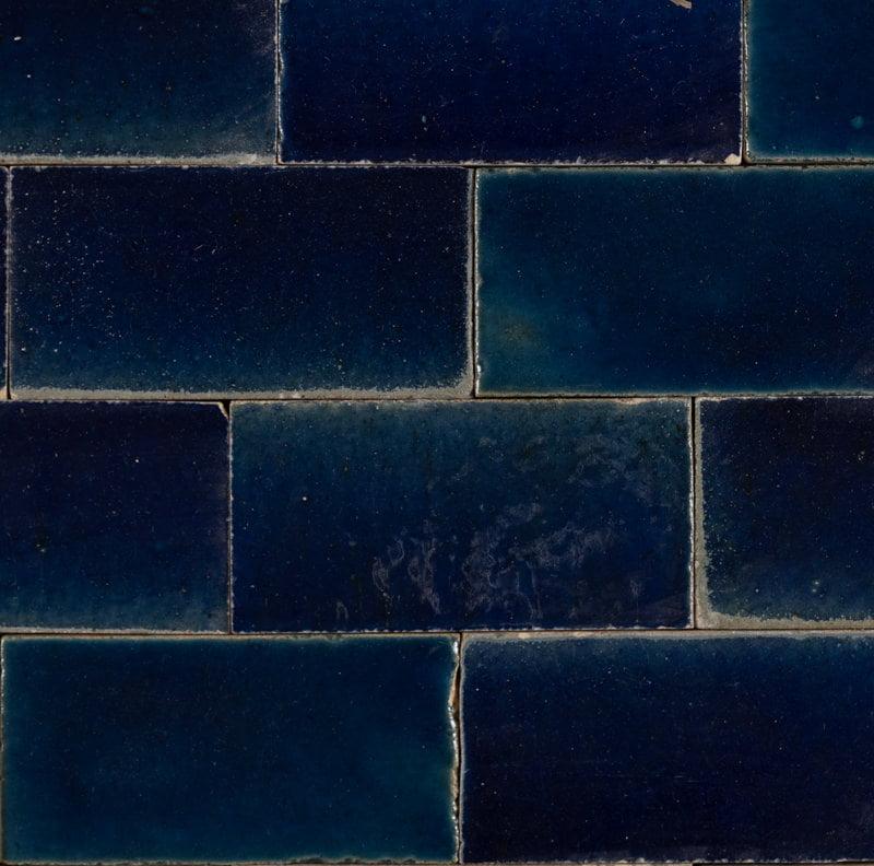 indigo glossy subway tile