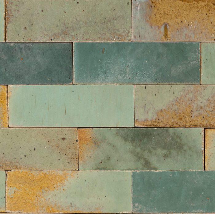 turquoise bricks